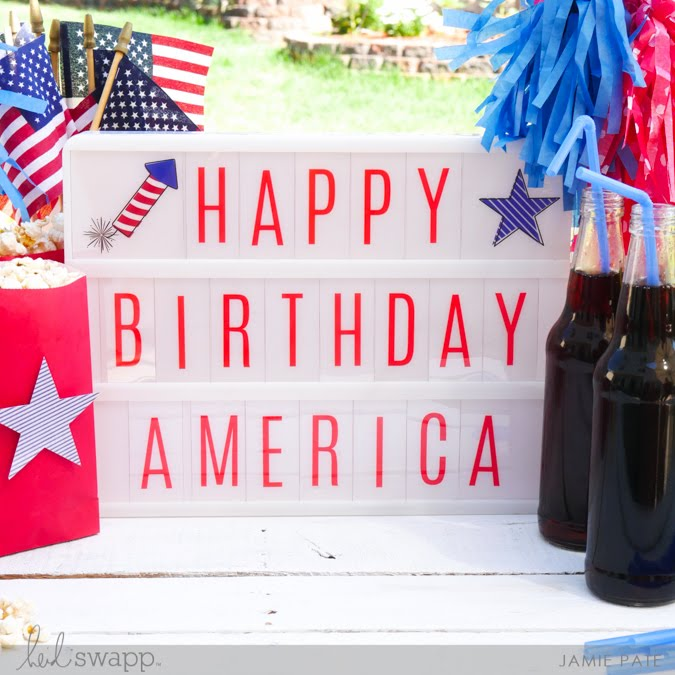 Create a July 4 Celebration with Heidi Swapp Lightbox by Jamie Pate | @jamiepate for @heidiswapp