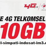 SAYARAT DAN KETENTUAN MENDAPATKAN BONUS 10 GB UPGRADE 4G TELKOMSEL
