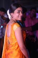 Shalini Pandey in Beautiful Orange Saree Sleeveless Blouse Choli ~  Exclusive Celebrities Galleries 017.JPG