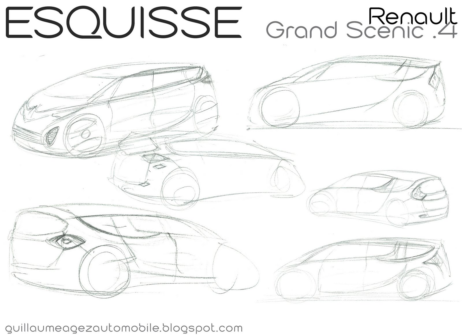 Guillaume AGEZ Automobile: Esquisse : Renault Grand Scénic 4