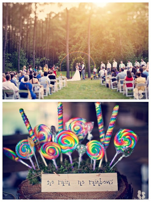 If You Want a Rainbow Theme Wedding: No Rain No Rainbows