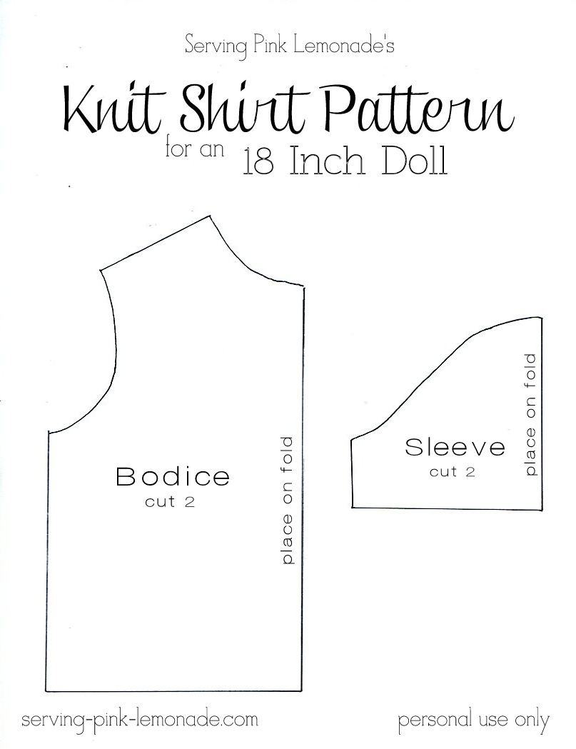 image relating to American Girl Doll Clothes Patterns Free Printable named Serving Purple Lemonade: How in direction of Sew a Blouse for an 18 Inch