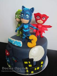 bolo de aniversário PJ Masks bragança