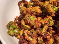 CRISPY ROASTED BROCCOLI IN THE AIR FRYER..