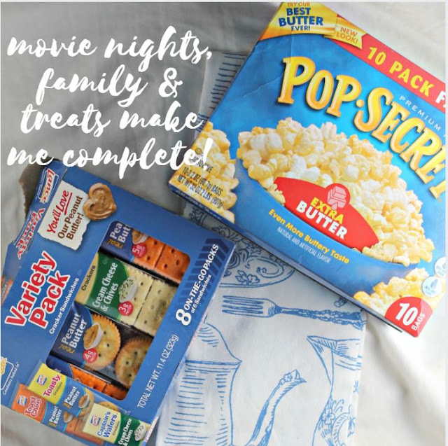 EPIC Movie Night S'Mores Popcorn & Snacks.  Fun and easy S'mores popcorn recipe and a fun movie night spread.
