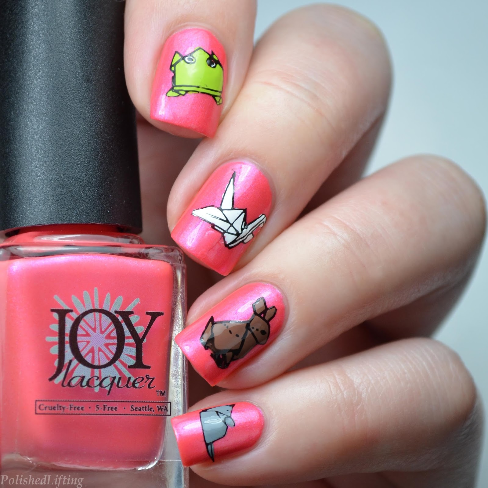 Polished Lifting: Origami Paper Animals featuring Joy Lacquer