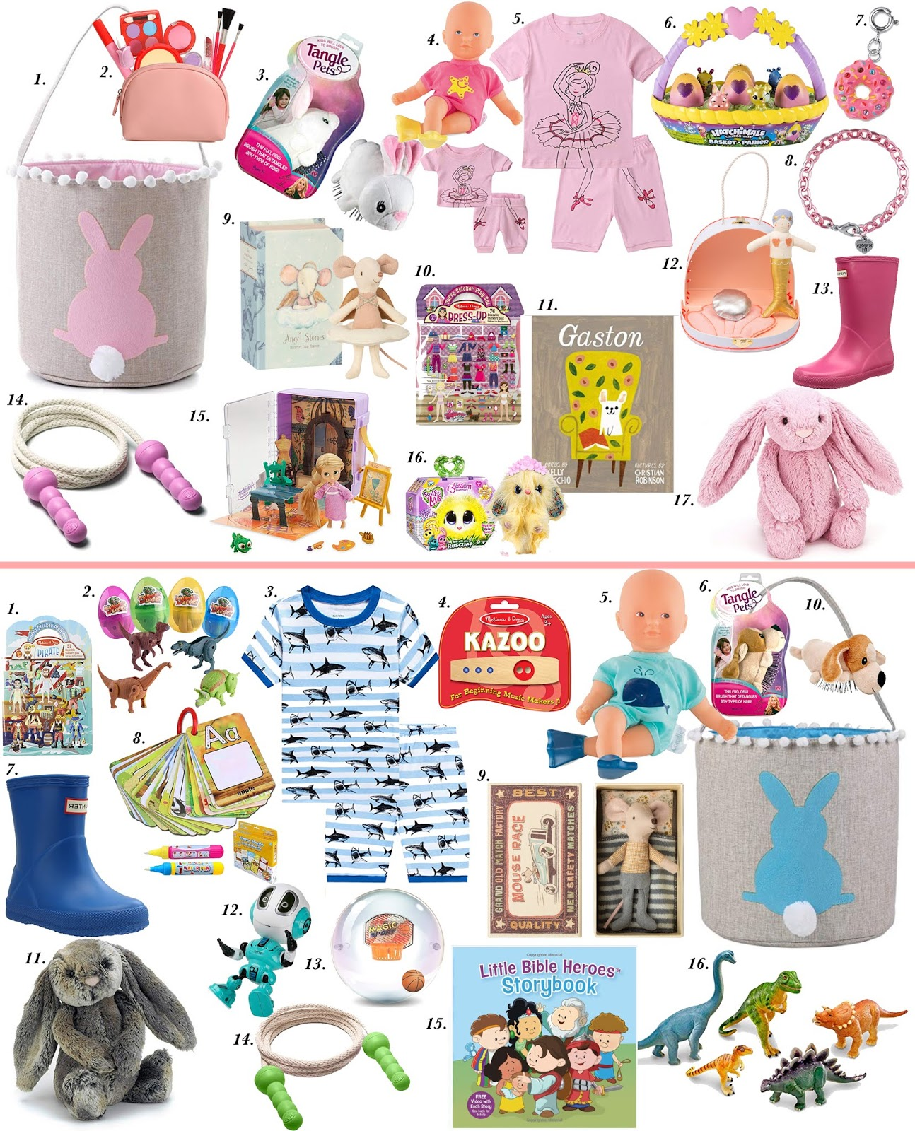 Easter Basket Ideas for Boys and Girls - Something Delightful Blog