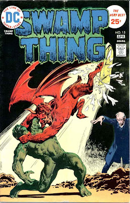 Swamp Thing v1 #15 1970s bronze age dc comic book cover art by Nestor Redondo