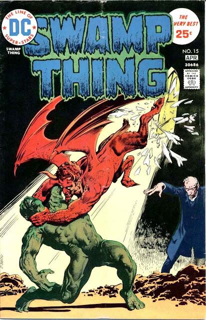 Swamp Thing v1 #15 1970s bronze age dc comic book cover art by Nestor Redondo