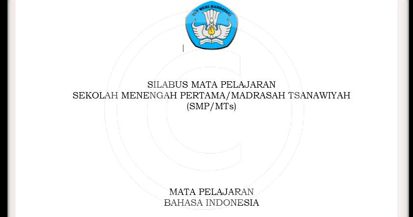 Download Silabus Smp Mts Kelas 7 8 9 Kurikulum 2013 Revisi
