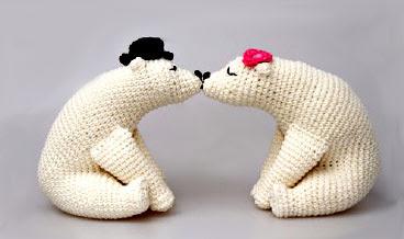 Osos polares amigurumis tejidos en crochet