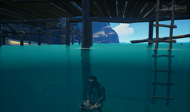 Sea of Thieves pirate sits sitting underwater glitch beta