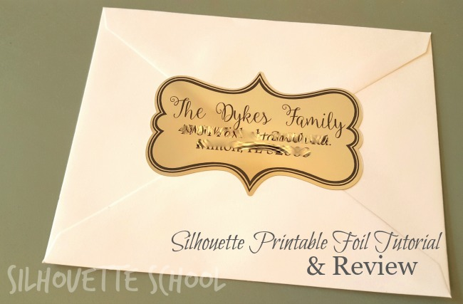 Silhouette, Silhouette printable foil, printable foil, Silhouette tutorial, Silhouette Studio, return address label
