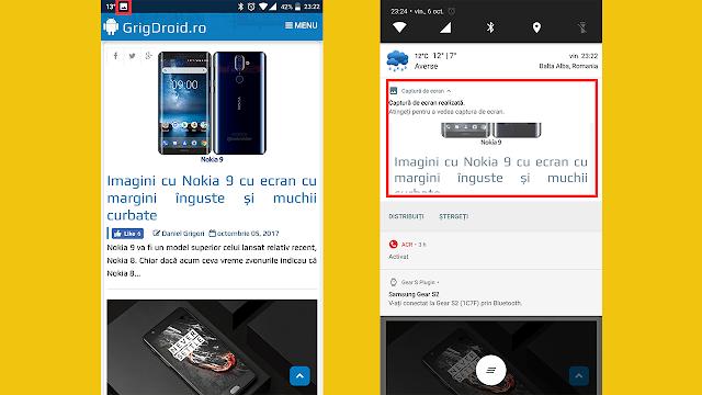 Cum faci ScreenShot/Captură de Ecran pe un telefon Android