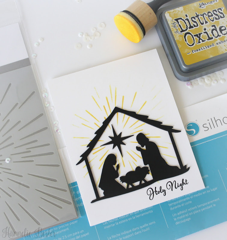 Nativity scene Christmas card : Apex cuttables