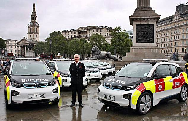 BMW i3s Are Now Equipping the London Fire Brigade BMW i3s Are Now Equipping the London Fire Brigade