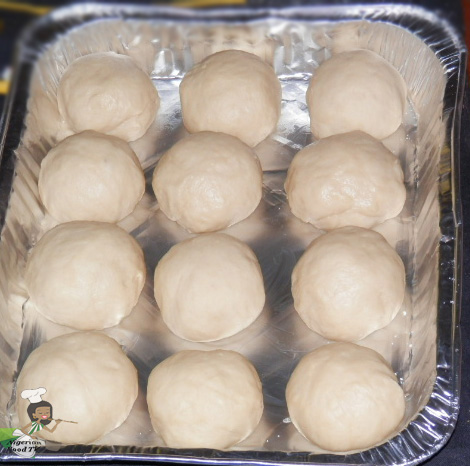Nigerian Pull Apart Bread : before second rising or proving