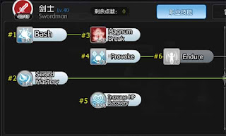 Skill Tree Swordsman Ragnarok Online Mobile Guardian of Eternal Love