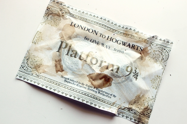 ticket billete tren Harry Potter Hogwarts