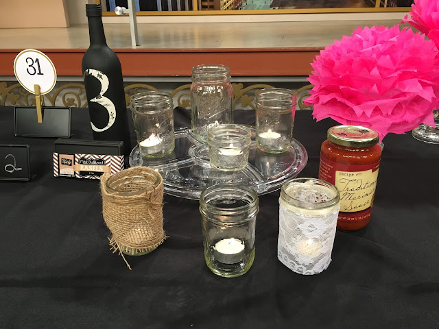 How to Save Money on Your Wedding with Windy City LIve: Use glass jars with candles as table centerpieces | all dressed up with nothing to drink...