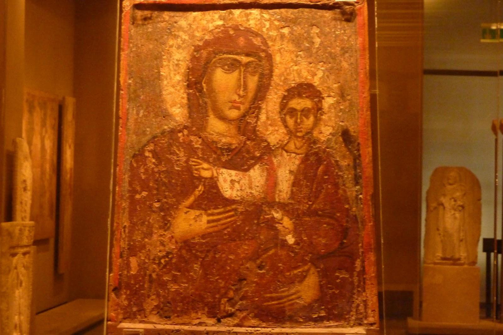 Peinture La Vierge  Ef Bf Bd L Enfant Decor Antique