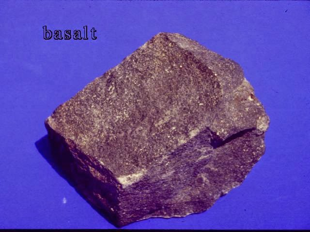 Fine Grained Texture (Aphanitic), Mineral Grains Smaller Than 1mm (Need Hand Lens or Microscope to See Minerals)