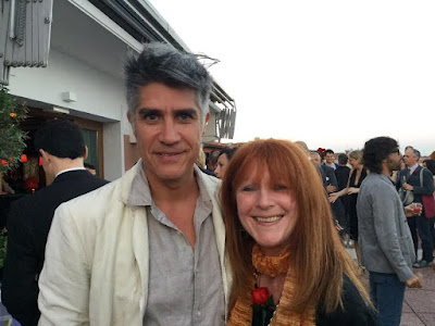 Alejandro Aravena and Cat Bauer at Variety party in Venice