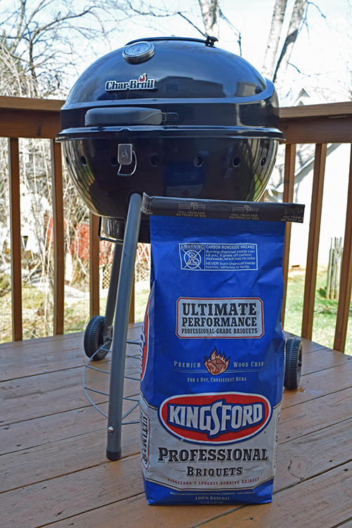 kettle grill, Kingsford Professional charcoal,