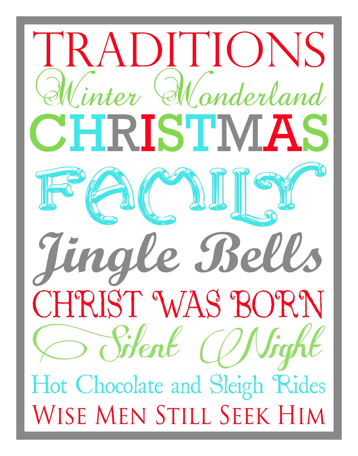 Christmas Subway Art.Christmas Subway Art Free Printable Tips From A Typical Mom