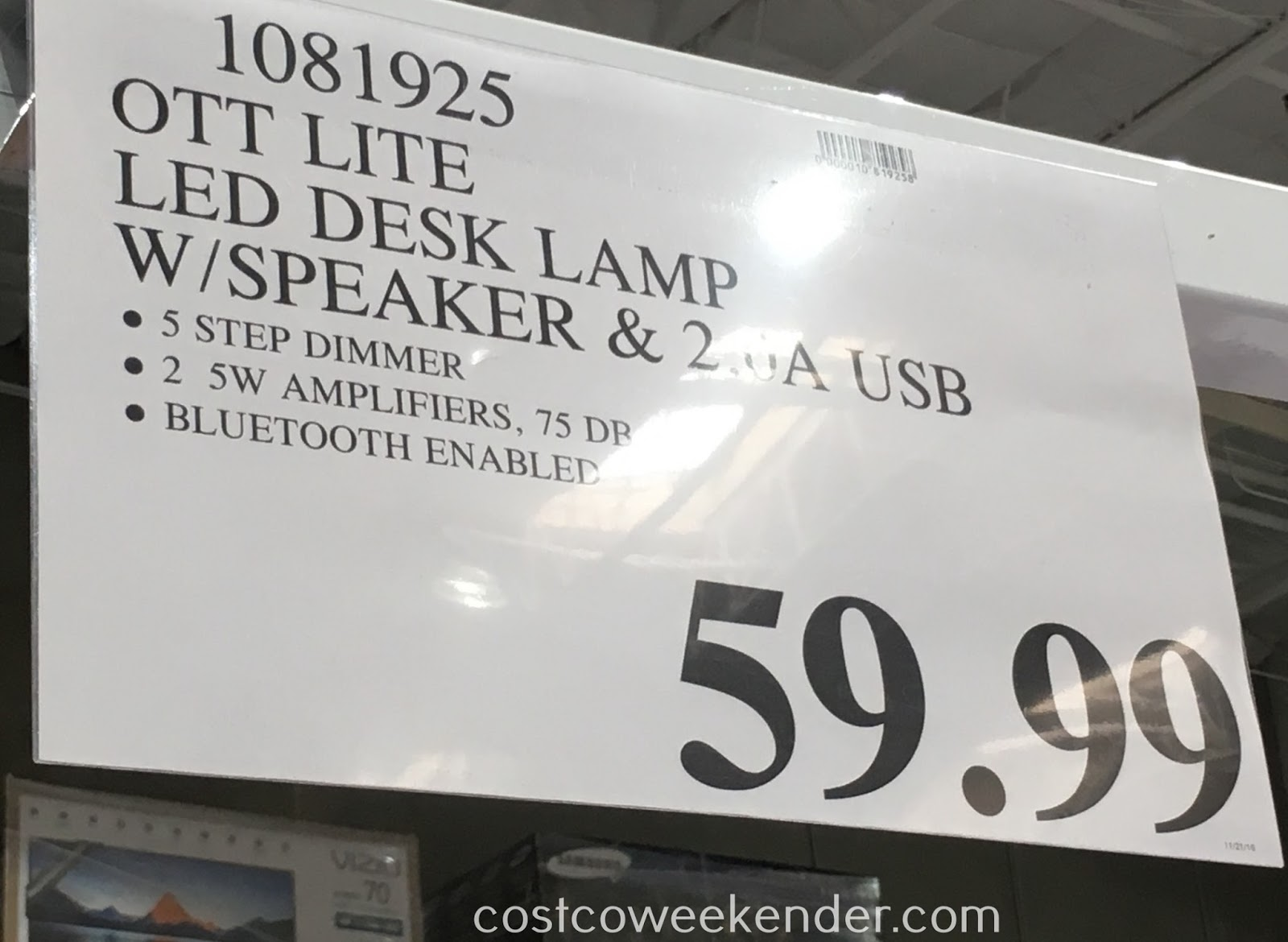 Deal for the OttLite LED Desk Lamp at Costco