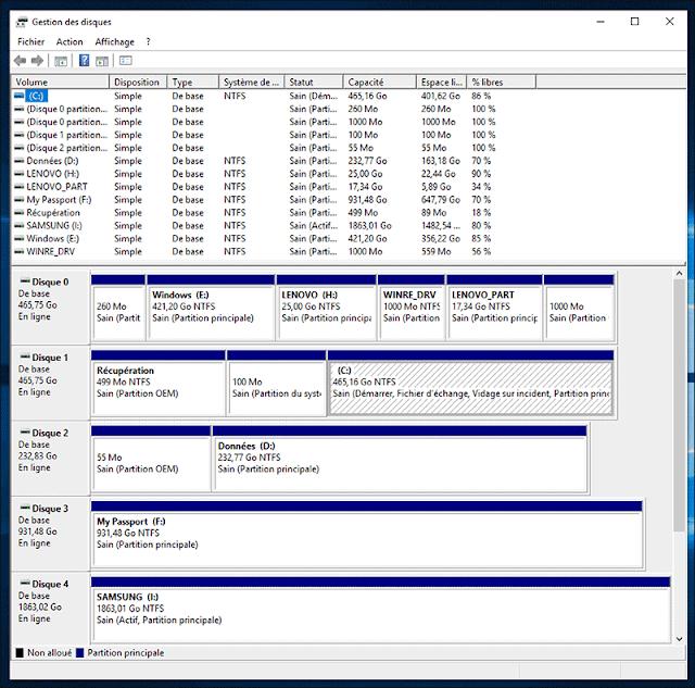 ويندوزgestion-disques-windows-10-