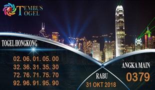 Prediksi Angka Togel Hongkong Rabu 31 Oktober 2018