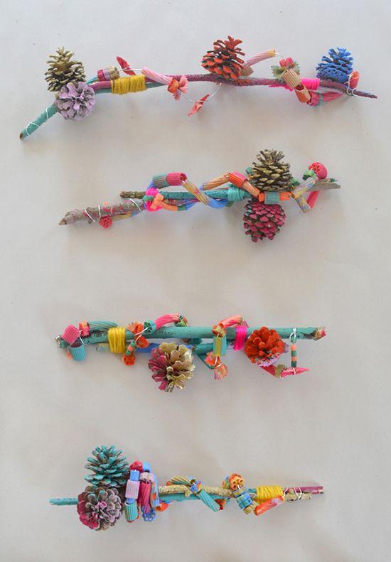 Art Bar Crafts - Art Assemblage with Kids - DIY Pasta Craft