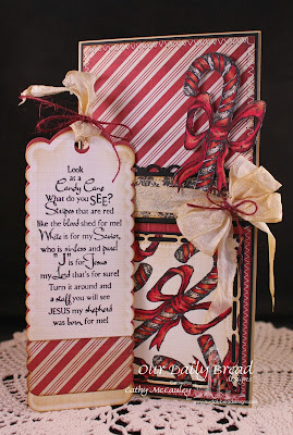Stamps - Our Daily Bread Designs Candy Cane, ODBD Custom Bookmark Die