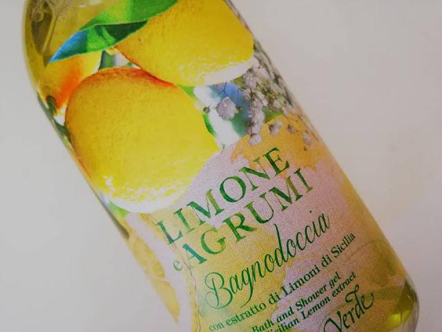 bagnoschiuma bottega verde limone agrumi