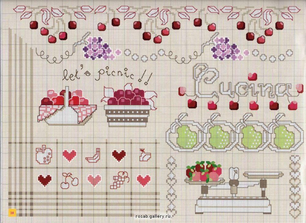 Grande raccolta di schemi e grafici per punto croce free - Disegni a punti ...