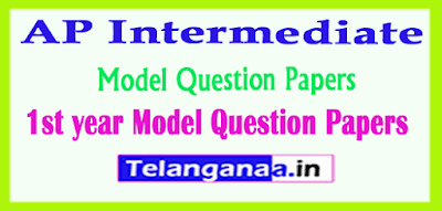 AP Intermediate 1st year Model Question Papers