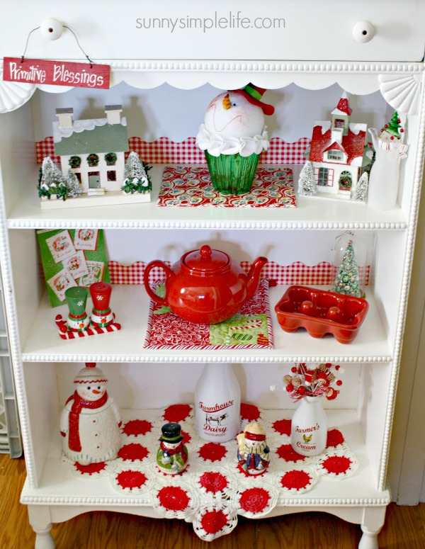 Christmas shelf, Christmas decor