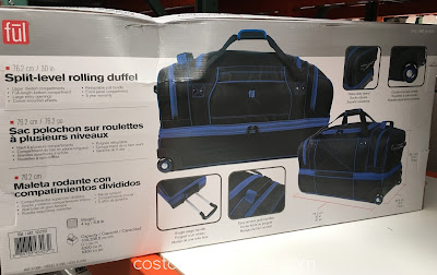 Costco 1012751 - Travel the right way with the Ful Split-Level Rolling Duffel Bag