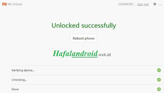 Sukses Unlock Bootloader Xiaomi