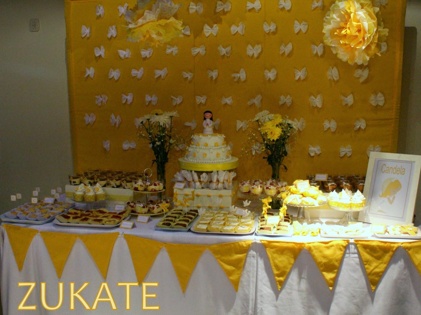 Fiesta de primera comuni n para candela zukate - Ideas para mesas dulces de comunion ...