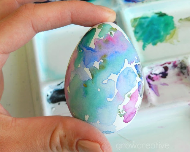 Watercolor abstract Easter Egg: grow creative blog