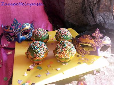 Muffin arcobaleno - Dolci senza forno di Carnevale