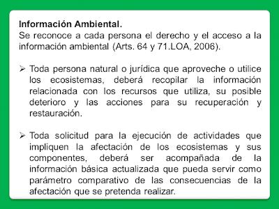5. Investigación e información ambiental.