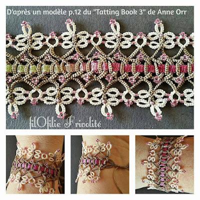 Bracelet Baroque Bohème d'après une bordure de Anne Orr
