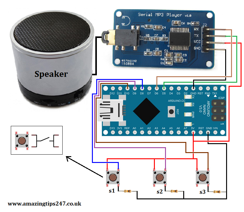 Arduino doorbell with custom sounds and buttons « Amazing Tips247