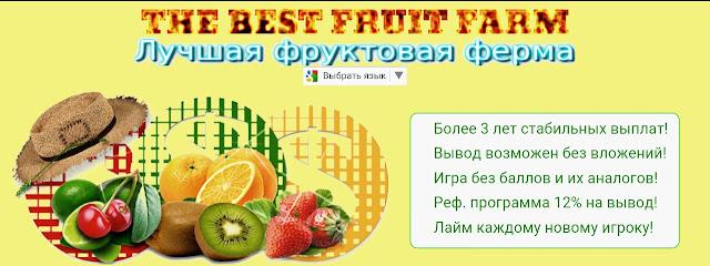 Фруктовая ферма The best fruit farm - логотип.