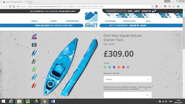 One Man Kayak Deluxe Starter Pack