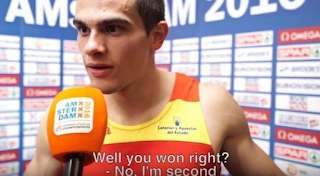 Έμαθε από τη δημοσιογράφο πως πήρε το χρυσό μετάλλιο
