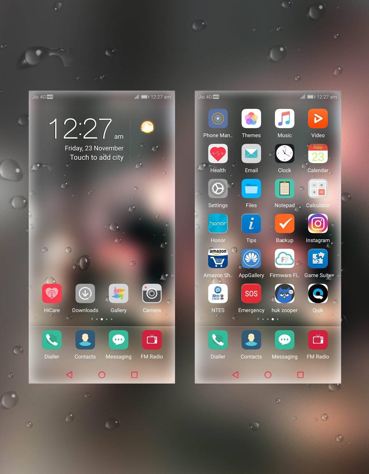 Rain Drops Theme For EMUI 5 and EMUI 8 !! Huawei Emui Theme